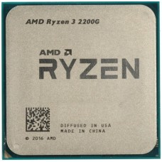 CPU AMD 2200G Ryzen 3 3,5-3,7 GHZ 4 cores/4 threads Integrated GPU Vega 8 AM4 OEM